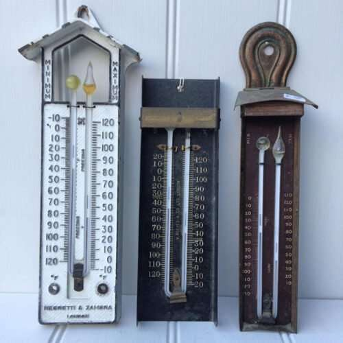 Antique Greenhouse Thermometers